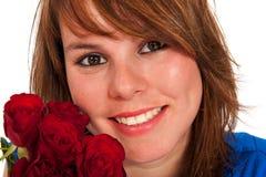 新女孩的玫瑰 免版税图库摄影