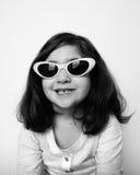 新女孩的玻璃 免版税图库摄影