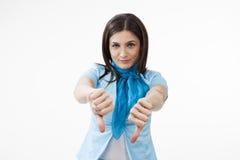 新女性打手势 免版税库存照片