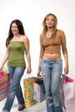 新女性熟悉内情的顾客 库存图片