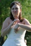 新娘不耐烦的婚礼 库存图片