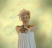 新娘举行一个吉德尔婚礼概念 图库摄影