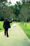 新娘交叉被处理的逃亡 免版税图库摄影