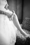 新娘佩带的长袜 免版税图库摄影