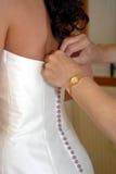 新娘准备 免版税库存照片