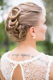新娘发型,金发 免版税库存照片
