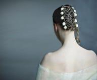 新娘发型 免版税库存照片
