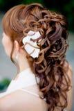 新娘发型 库存图片