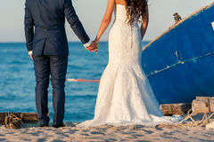 新娘和新郎可爱的场面  库存照片