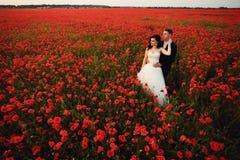 新娘和新郎在鸦片调遣 库存照片