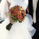 新娘和新郎婚礼之日 免版税库存图片