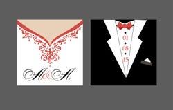 新娘和新郎婚礼邀请 日期保存 库存例证