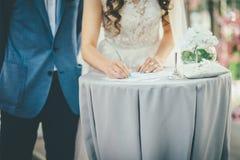 新娘和新郎标志文件 库存图片