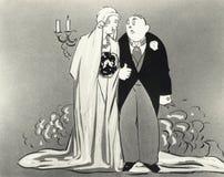 新娘和新郎的例证 免版税库存照片