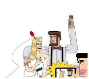 新娘和新郎的图象 免版税库存图片