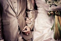 新娘和新郎的婚礼季节 happness季节 免版税库存图片