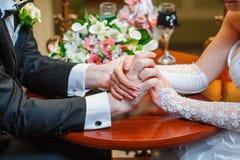 新娘和新郎的现有量 免版税图库摄影