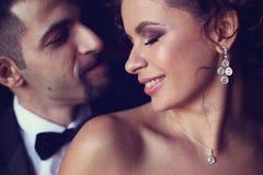 新娘和新郎的纵向 免版税图库摄影