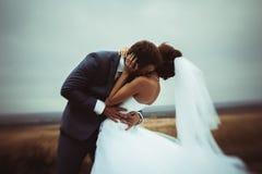 新娘和新郎结婚照 免版税库存照片