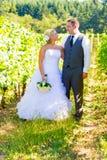 新娘和新郎画象  免版税图库摄影