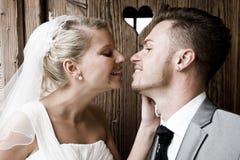 新娘和新郎 免版税库存照片
