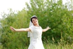 新娘在公园 图库摄影