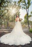 新娘在公园 库存图片