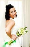 新娘在家 免版税库存照片