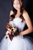 新娘在工作室 免版税库存照片