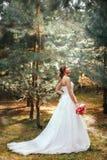 新娘在户外公园 库存图片