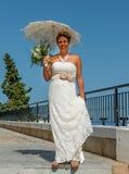 新娘在西班牙阳光下 免版税库存图片