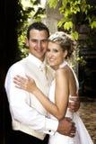 新娘夫妇 库存照片