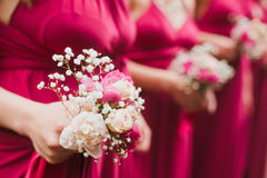 新娘婚礼花和新娘花束 库存图片