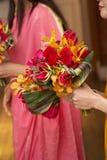 新娘婚礼花束 免版税库存照片