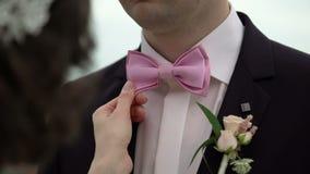 新娘定象修饰蝶形领结 股票录像