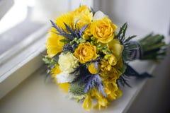 新娘开花花束 免版税库存图片