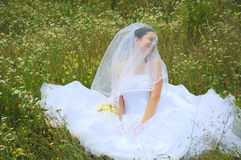 新娘愉快的纵向 库存照片