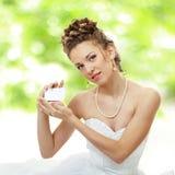 新娘提供看板卡室外 库存照片