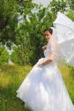 新娘新娘纵向夏天闪光 库存图片