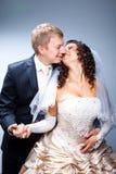 新娘新郎亲吻 库存照片