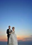 新娘新郎夫妇玩偶婚礼 库存图片