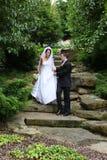 新娘新郎婚礼 免版税库存图片