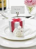 新娘新郎餐位餐具 库存照片