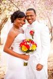 新娘日新郎他们的婚礼 库存图片