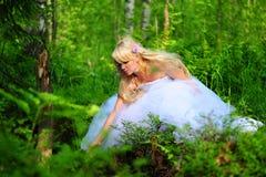 新娘木头 库存照片