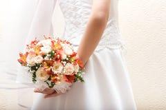 新娘束鞋带 免版税库存照片
