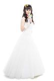 新娘查出的白色 库存图片