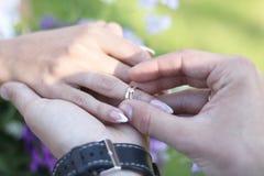 新娘概念礼服婚姻纵向的台阶 图库摄影