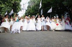 新娘游行 库存图片