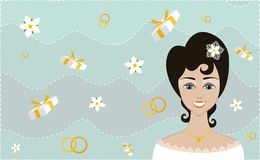 新娘激动 库存图片